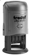 Order Now! Trodat 46130 Round Date Stamps. Add custom text or artwork around the adjustable date. Free Shipping. No Sales Tax - Ever!