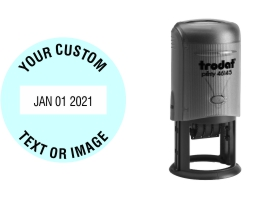 Order Now! Trodat 46145 Round Date Stamps. Add custom text or artwork around the adjustable date. Free Shipping. No Sales Tax - Ever!
