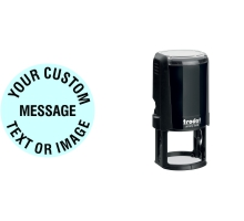 Order Now! Trodat Printy 4630 Round Rubber Stamps. Add custom text, upload artwork, or both. Free Shipping. No Sales Tax - Ever!
