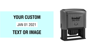 Order Now! Trodat Printy 4726 Date Stamp. Add custom text or artwork around the adjustable date. Free Shipping. No Sales Tax - Ever!