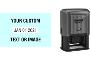 Order Now! Trodat Print 4727 Plastic Date Stamp. Add custom text or artwork around the adjustable date. Free Shipping. No Sales Tax - Ever!