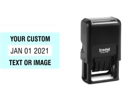Order Now! Trodat Printy 4750 Date Stamp. Add custom text or artwork around the adjustable date. Free Shipping. No Sales Tax - Ever!