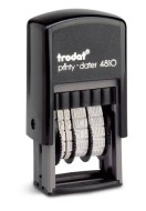 "Order Now! Trodat 4810 Plastic Mini Date Stamp. 5/32"" tall date, 10+ years, 8 ink colors to choose from. Free Shipping. No Sales Tax - Ever!"