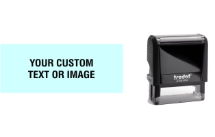 Order Now! Trodat Printy 4914 Rubber Stamp. Add lines of text, upload artwork, or both. Free Shipping. No Sales Tax - Ever!