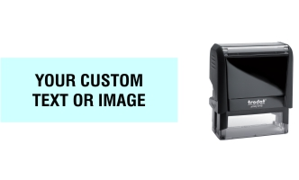 Order Now! Trodat Printy 4915 Custom Rubber Stamp. Add lines of text, upload artwork, or both. Free Shipping. No Sales Tax - Ever!