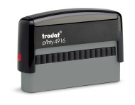 Order Now! Trodat Printy 4916 Custom Rubber Stamp. Add lines of text, upload artwork, or both. Free Shipping. No Sales Tax - Ever!