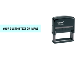 Order Now! Trodat Printy 4917 Custom Rubber Stamp. Add lines of text, upload artwork, or both. Free Shipping. No Sales Tax - Ever!