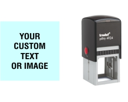 Order Now! Trodat Printy 4924 Custom Rubber Stamp. Add lines of text, upload artwork, or both. Free Shipping. No Sales Tax - Ever!
