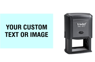 Order Now! Trodat Printy 4927 Custom Rubber Stamp. Add lines of text, upload artwork, or both. Free Shipping. No Sales Tax - Ever!
