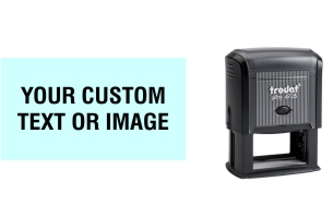 Order Now! Trodat Printy 4928 Custom Rubber Stamp. Add lines of text, upload artwork, or both. Free Shipping. No Sales Tax - Ever!