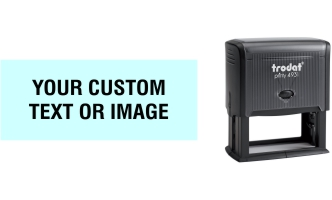 Order Now! Trodat Printy 4931 plastic rectangle self-inking stamp. Same day shipping. No sales tax - ever!