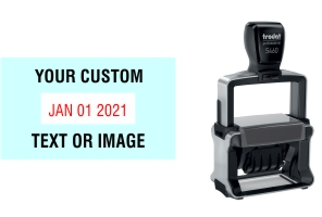Order Now! Trodat 5460 Custom Rubber Stamp. Add lines of text, upload artwork, or both. Free Shipping. No Sales Tax - Ever!