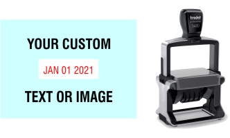 Order Now! Trodat 5480 Custom Rubber Stamp. Add lines of text, upload artwork, or both. Free Shipping. No Sales Tax - Ever!