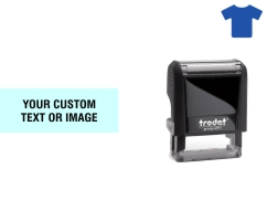 Order Now! Trodat Printy 4911 Fabric Stamp. Add lines of text, upload artwork, or both. Free Shipping. No Sales Tax - Ever!