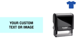 Order Now! Trodat Printy 4913 Fabric Stamp. Add lines of text, upload artwork, or both. Free Shipping. No Sales Tax - Ever!
