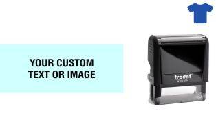 Order Now! Trodat Printy 4914 Fabric Stamp. Add lines of text, upload artwork, or both. Free Shipping. No Sales Tax - Ever!