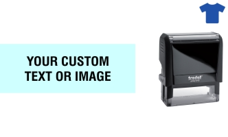 Order Now! Trodat Printy 4915 Fabric Stamp. Add lines of text, upload artwork, or both. Free Shipping. No Sales Tax - Ever!