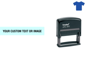 Order Now! Trodat Printy 4917 Fabric Stamp. Add lines of text, upload artwork, or both. Free Shipping. No Sales Tax - Ever!