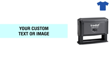 Order Now! Trodat Printy 4918 Fabric Stamp. Add lines of text, upload artwork, or both. Free Shipping. No Sales Tax - Ever!