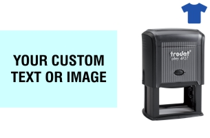 Order Now! Trodat Printy 4927 Fabric Stamp. Add lines of text, upload artwork, or both. Free Shipping. No Sales Tax - Ever!