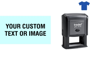 Order Now! Trodat Printy 4928 Fabric Stamp. Add lines of text, upload artwork, or both. Free Shipping. No Sales Tax - Ever!
