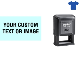 Order Now! Trodat Printy 4929 Fabric Stamp. Add lines of text, upload artwork, or both. Free Shipping. No Sales Tax - Ever!