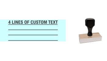 Order Now! 4 Line Knob Handle Wood Stamps. Assembled by hand with you custom text added on 4 lines. Free Shipping. No Sales Tax - Ever!