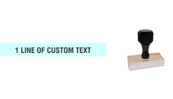 Order Now! Wood Knob Compact Endorsement Stamp. Customize with 1-2 lines of text or upload artwork. Free shipping. No Sales Tax - ever!