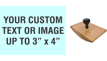 """Order Now! 3"""" x 4"""" Wood Rocker Stamps. Assembled by hand with your custom text or artwork. Free Shipping. No Sales Tax - Ever!"""
