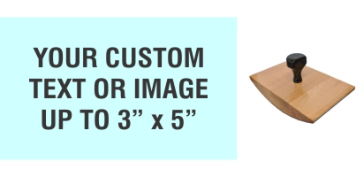 """Order Now! 3"""" x 5"""" Wood Rocker Stamps. Assembled by hand with your custom text or artwork. Free Shipping. No Sales Tax - Ever!"""