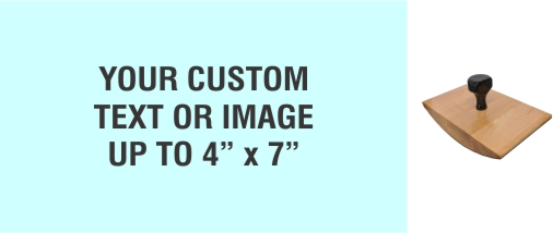 """Order Now! 4"""" x 7"""" Wood Rocker Stamps. Assembled by hand with your custom text or artwork. Free Shipping. No Sales Tax - Ever!"""