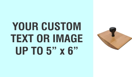 """Order Now! 5"""" x 6"""" Wood Rocker Stamps. Assembled by hand with your custom text or artwork. Free Shipping. No Sales Tax - Ever!"""