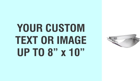 """Order Now! XL Metal Rocker Stamp measures 8"""" x 10"""". Personalize with your text or artwork. Free same day shipping. Excellent customer service. No sales tax - ever."""