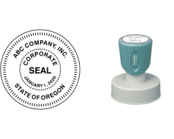 The Xstamper N53 Round Corporate Seal Stamp is designed for use with corporations, government seals, and other official applications. No sales tax ever.