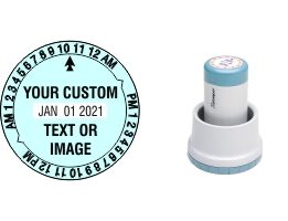 The Xstamper N78 XpeDater Round Rotary Date & Time stamp made daily online. Free same day shipping. Excellent customer service. No sales tax - ever.